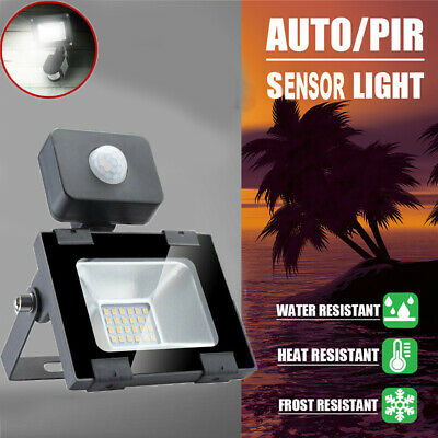LED Floodlight PIR Motion Sensor 10/20/30/50W Security Outdoor Flood Light IP65