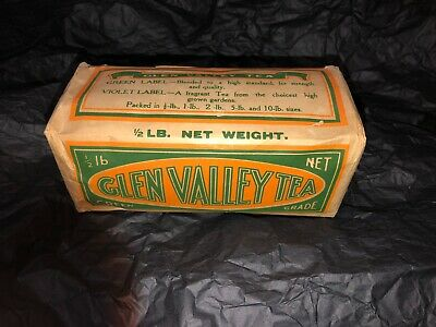 Extremely Rare Vintage Glen Valley Full Tea Pack 1/2 Ib Super Condition