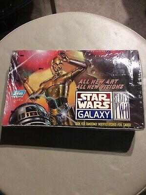 New 1994 Star Wars Galaxy Series 2 Topps Trading Cards 36 Packs Sealed Box