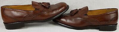 Men's MZ Brown Leather Slip On Shoes, UK Size 7.