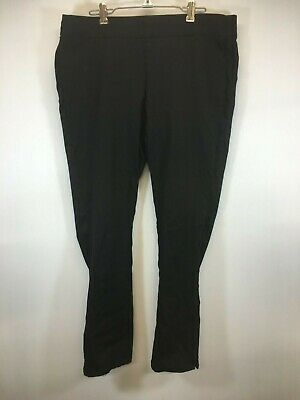 NYDJ Womens Jeans Deep Black Size 12 Pull-On Skinny Ankle Stretch Pants Jeans