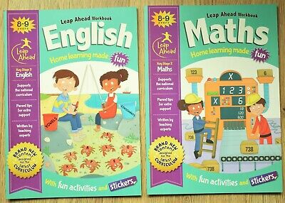 Maths English Educational Activity Book x 2 Year 4 Home Learning Bundle 8 9