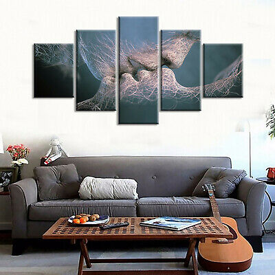 5 Panels Unframed Canvas Painting Picture Printed Abstract Wall Modern Art Set