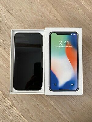 iPhone X 64g White/silver Cracked Rear Case Unlocked