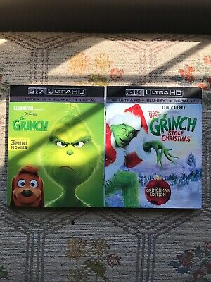 The Grinch 4k Blu Ray Set 2 Movies No Digital Codes