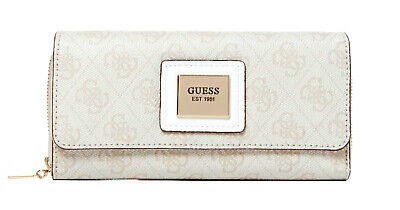 Guess Candace Large Clutch Organizer Stone, Ladies Purse Purse Wallet