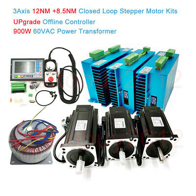 3Axis 12NM+8.5NM Closed Loop Stepper Motor Nema34 Servo Drive Upgrade Controller