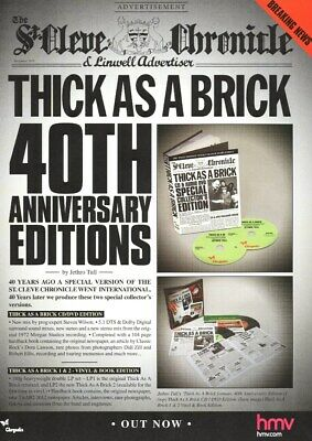 Jethro Tull - Thick As A Brick 40th Ann. Edition - Full Size Magazine Advert