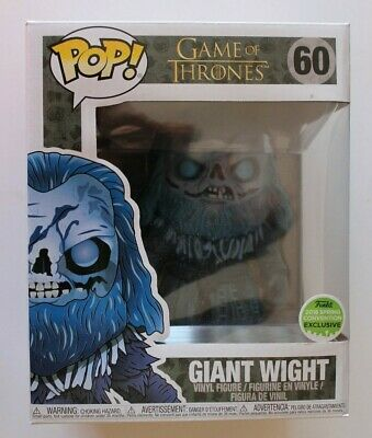 "Funko Pop Giant Wight 60 Game Of Thrones 2018 Con Exclusive  Large Pop 6""  Mib"