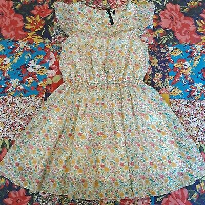 Next Age 7 Girls Ditsy Floral Summer Dress Holiday