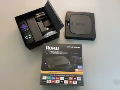 Roku Ultra HD/4K/HDR Ultimate Streaming Media Player, in Box