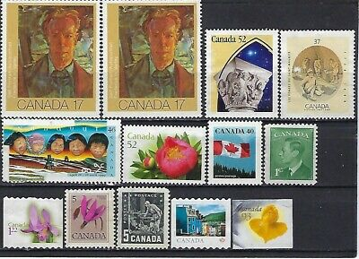 Canada, Selection of 13 not cancelled stamps without gum,face value $4.85