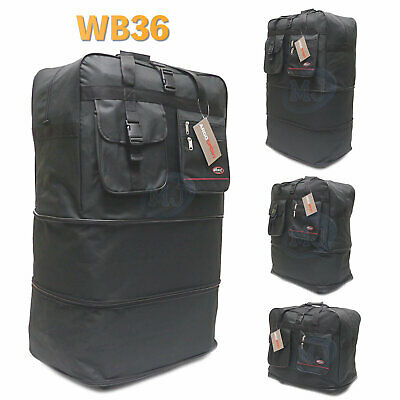 "36"" Expandable Spinner Suitcase Luggage Wheeled Duffel Rolling Bag USA SELLER"
