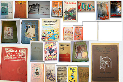 Vintage Book Lot Mission Furniture Caricature Lincoln Fairy Tales Scouts Robin