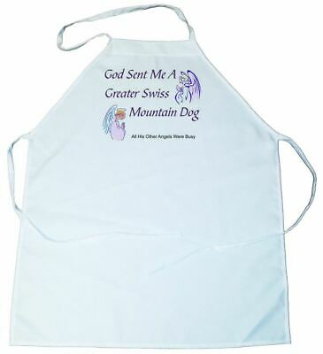 God Sent Me a Greater Swiss Mountain Dog Apron