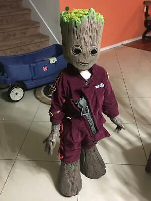 Pre owned Baby Groot costume size 6-7 Handmade costume