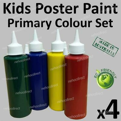 Craft Kids Paint | No chemicals safe for kids at school or home | washable Set 4