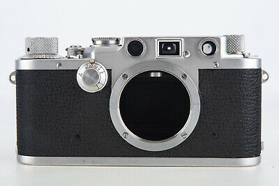 Leica IIIf 35mm Film Rangefinder Camera Body Black Dial Serial Number 530419 V07