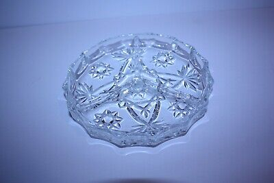 "Anchor Hocking EAPC EARLY AMERICAN PRESCUT 3 PART ROUND RELISH PLATE  6""  HTF"