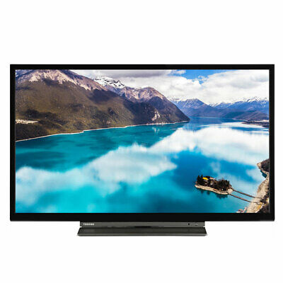 "Toshiba 24WL3A63DB 24"" Smart HD Ready LED TV Freeview Play USB Record C Grade"