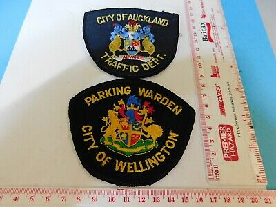 2 New Zealand Auckland & Wellington L.G. Patches Obsolete Hard/2/get