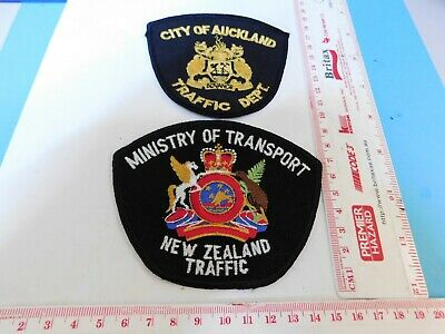 2 New Zealand Patches Ministry of Trans & Auckland Traffic Obsolete Hard/2/get