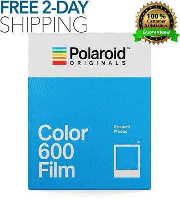 Polaroid Instant Color Film For 600 With 8 Classic Iconic White Framed Photos