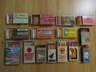 46 Matchboxes Featuring Covers For Restaurants, Drinks, Hotels, Carpets.