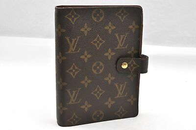 Authentic Louis Vuitton Monogram Agenda MM Day Planner Cover R20004 LV 93789