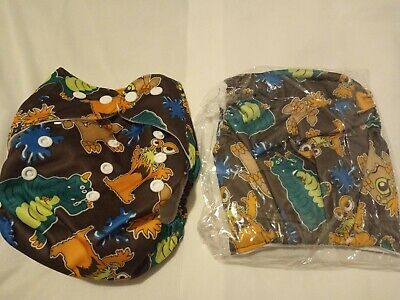 Baby Infant Adjustable Printed Cloth Reusable Diapers Nappy Cover Liner - Unisex