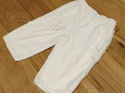 6-9 Months NEXT Baby Girl White Lined Cotton Trousers Bottoms