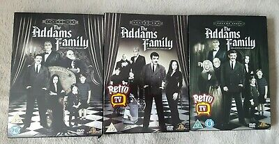 THE ADDAMS FAMILY series 1-3 complete UK DVD Box Set 9 discs set 64 episodes