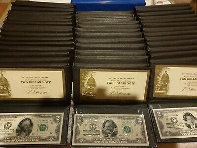 American Presidents Set All Served $2 X 44 Legal Tender Two Dollar Notes