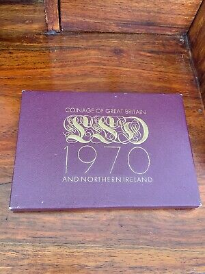 1970 Coinage Of Great Britain & Northern Ireland Proof Coin Set Mint
