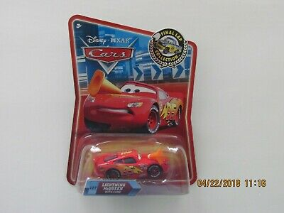 Disney Pixar Cars 2 LIGHTNING MCQUEEN WITH CONE FINAL LAP COLLECTION Hot CB-CCC