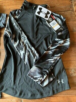 Girls UNDER ARMOUR Zip up Sports Top. Small. Brand new.