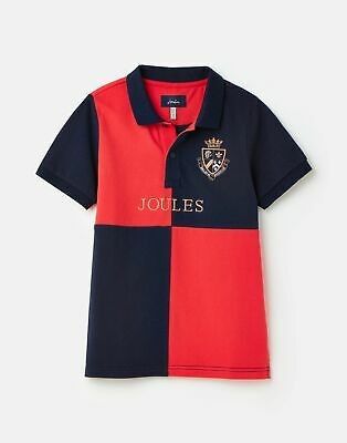 Joules  209333 Embellished Polo  - NAVY AND RED