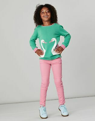 Joules Girls Miranda Intarsia Jumper  - GREEN DOUBLE SWAN