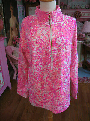 Lilly Pulitzer NWOT Pink Floral Popover Size XL