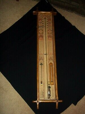 Admiral Fitzroy's Barometer~1800's~Wood Case~RARE FIND~MUST SEE~EARLY MODEL
