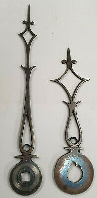 A Pair Of Early Small Steel Antique Bracket/Lantern Clock Hands-No Reserve!