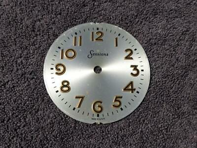 Mastercrafters Silver Raised Gold Numeral Dial. Swinging Motion Clocks. Sessions