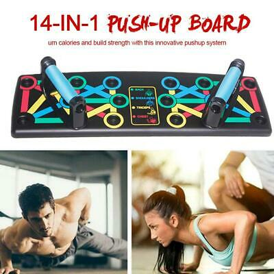 14in1 Push Up Rack Board Fitness Workout Train Gym Exercise Pushup Stands