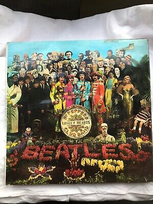 Beatles Sgt peppers lonely hearts club band vinyl LP (5th Pressing) Parlaphone
