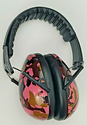 Baby Banz CEM-P1 Pink Camo Hearing Ear Protection Noise Cancelling
