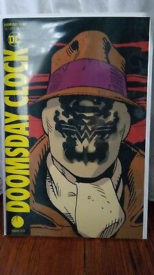 In Hand DOOMSDAY CLOCK #1 LENTICULAR Variant Watchmen Superman DC Comics NM