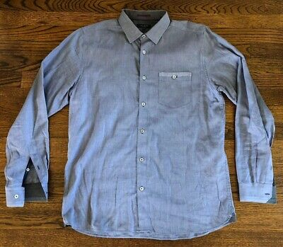 Ted Baker London Button Front Shirt- Mens Size 4