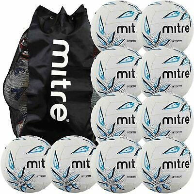 Mitre Intercept Netball Package - 10 Size 5 netballs with free ball sack