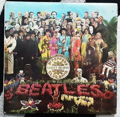 "The Beatles  - Sgt Pepper  - Rare French Parlophone 12"" Vinyl Lp"