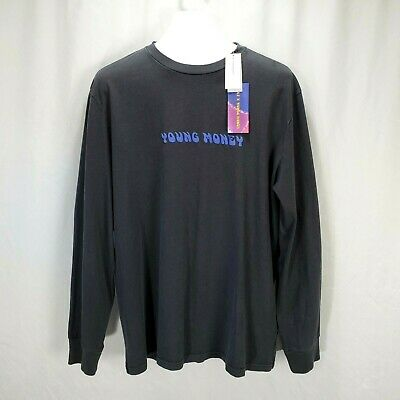 American Eagle AE X Young Money Men's Shirt Long Sleeve Tee Spell Out Size XL